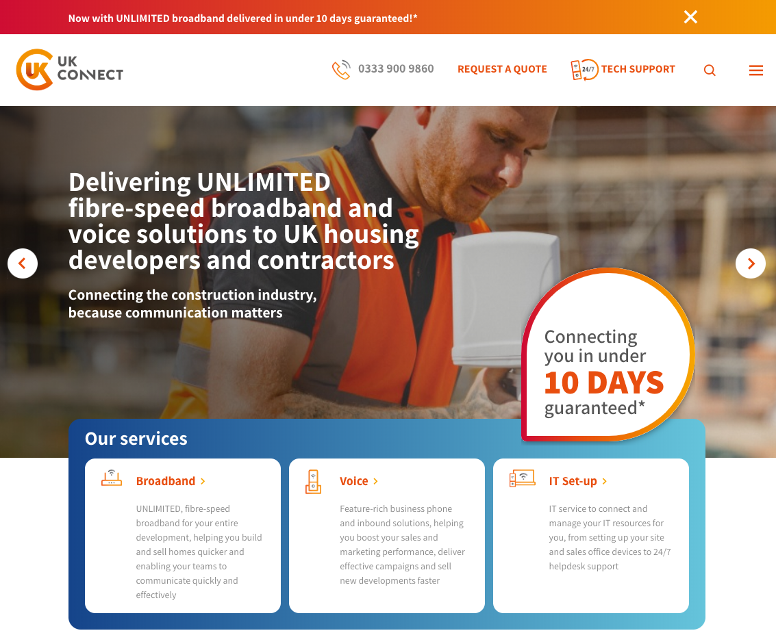 UK Connect new website
